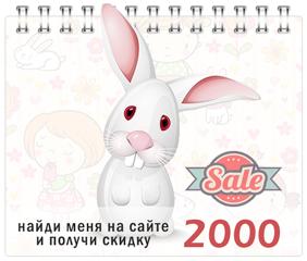 Найди зайку на страницах сайта и получи дополнительную скидку 2000 рублей