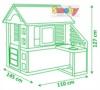 Домик с кухней Smoby размеры