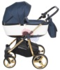 Коляска Adamex Barcelona Special Edition 3 в 1 спальная люлька с сумкой для мамы, вид сбоку