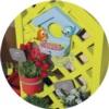 В домике Smoby Садовый 810405 есть скворечник для птиц