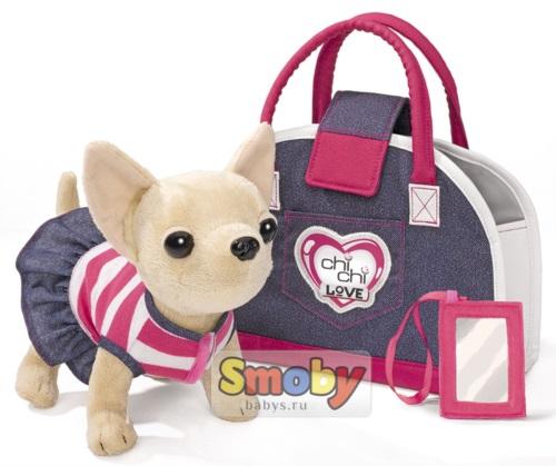 Детская плюшевая собачка Simba Chi Chi Love Чихуахуа Джинсовый стиль арт.5890599