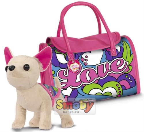 Мягкая игрушка Simba Chi Chi Love Собачка с маркерами 20 см 5895299