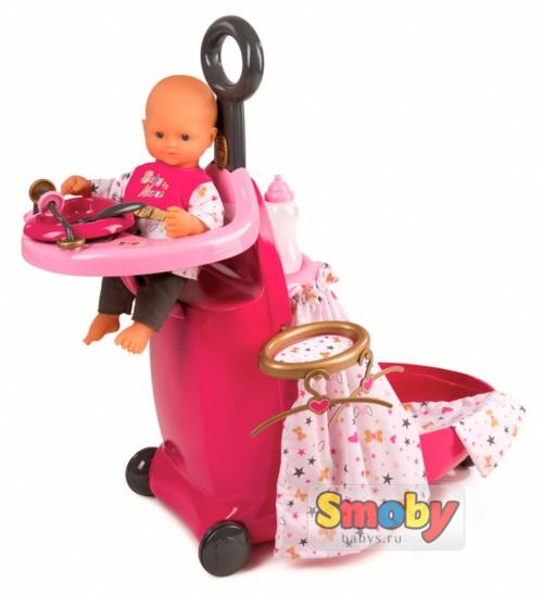 Набор для купания и кормления пупса в чемодане Smoby Baby Nurse 220316