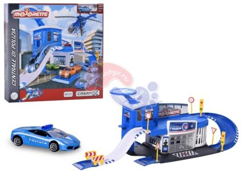 Парковка Majorette Сreatix Полицейская станция и машинка 2050012