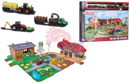 Набор Majorette Большая ферма Creatix и трактор 2050006