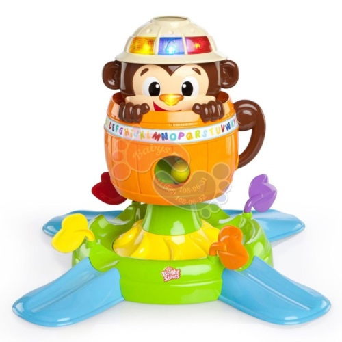 Детская развивающая игрушка Bright Starts Обезьянка в бочке 52094