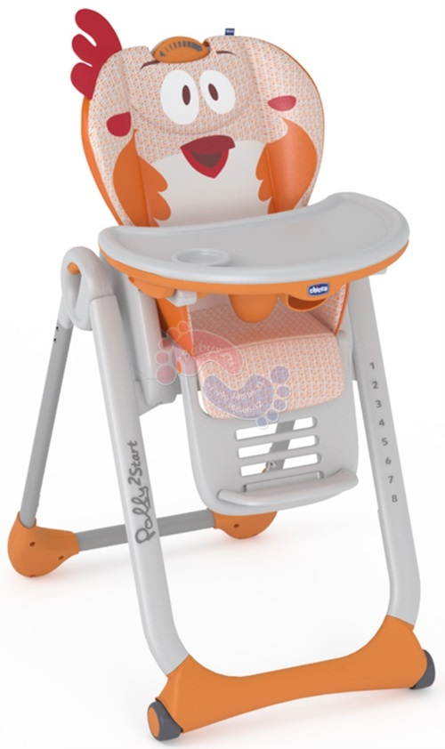 Стульчик для кормления Chicco Polly 2 Start Fancy Chicken 96