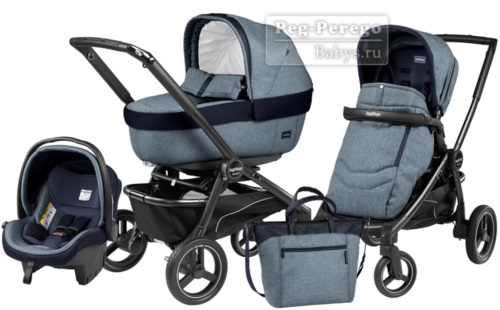 Коляска 3 в 1 Peg Perego Team Elite Set Modular Horizon