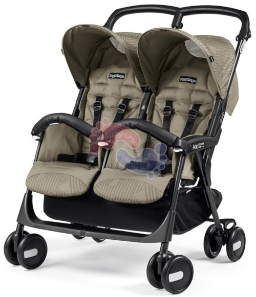 Коляска для двойни Peg Perego Aria Shopper Twin Geo Beige