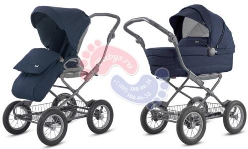 Универсальная коляска 2 в 1 Inglesina Sofia Duo Imperial Blue на шасси Ergo Bike