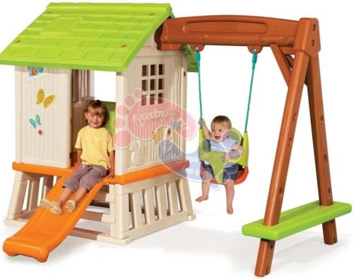 Игровой домик с качелями и горкой Smoby арт. 810601