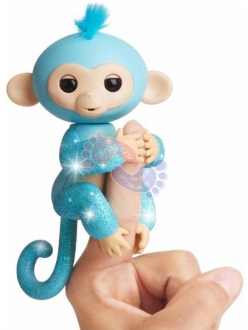 Интерактивная обезьянка Fingerlings в блестках Амелия 3761