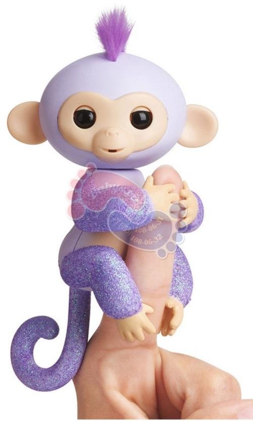 Интерактивная обезьянка Fingerlings в блестках Кики 3762