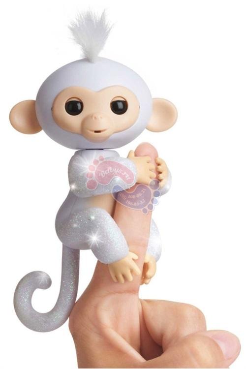 Интерактивная обезьянка Fingerlings в блестках Шугар 3763