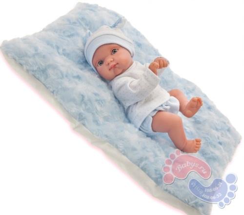 Muneca Antonio Juan Пепито мальчик на голубом одеялке 21 см 3903B