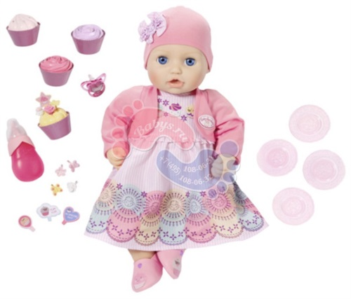 Кукла многофункциональная Zapf Creation Baby Annabell 700-600 Праздничная 43 см