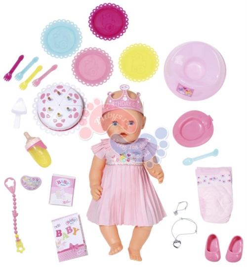 Интерактивная кукла Zapf Creation Baby Born Нарядная с тортом 43 см 825-129