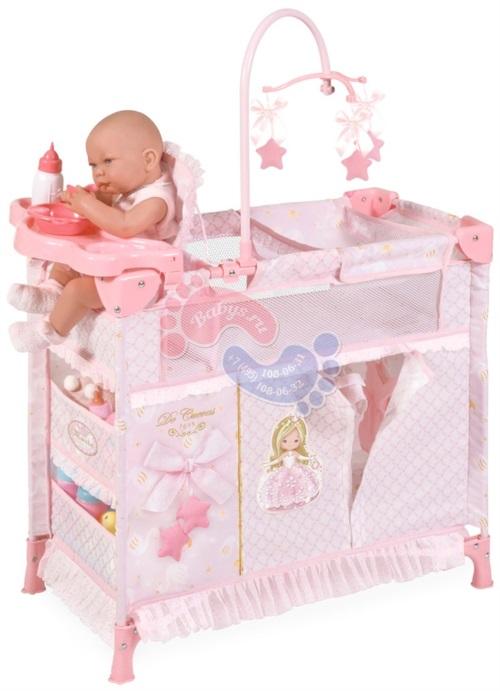 Манеж-игровой центр для куклы с аксессуарами Decuevas серии Мария 70 см 53028