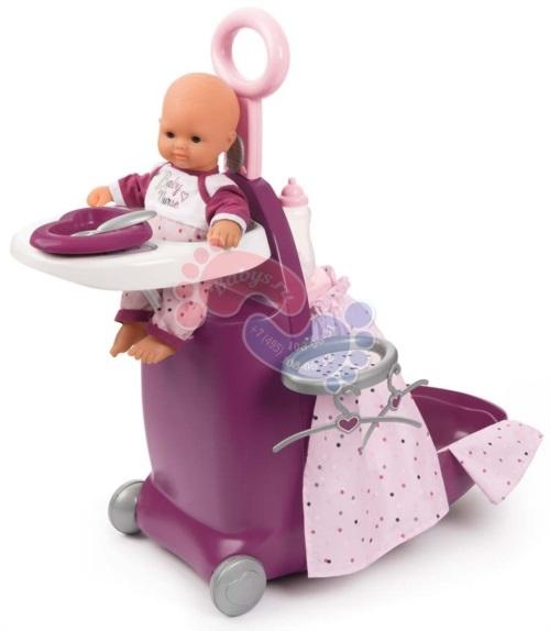 Набор для купания и кормления пупса в чемодане Smoby Baby Nurse 220346