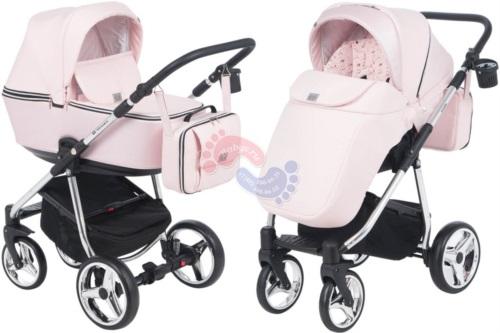 Коляска Adamex Reggio Special Edition 2 в 1 Y850 кожа св.розовая/розовый