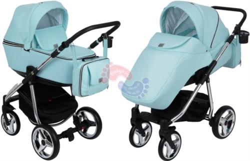 Коляска Adamex Reggio Special Edition 2 в 1 Y848 кожа св.голубая/св.голубой