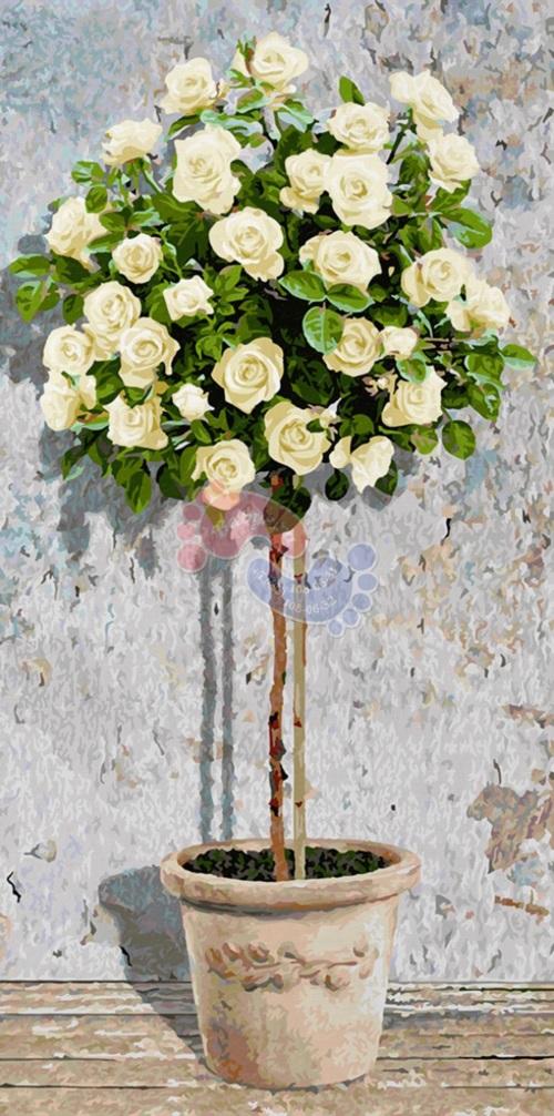 Schipper Раскраска по номерам Розовое дерево белое 9220777