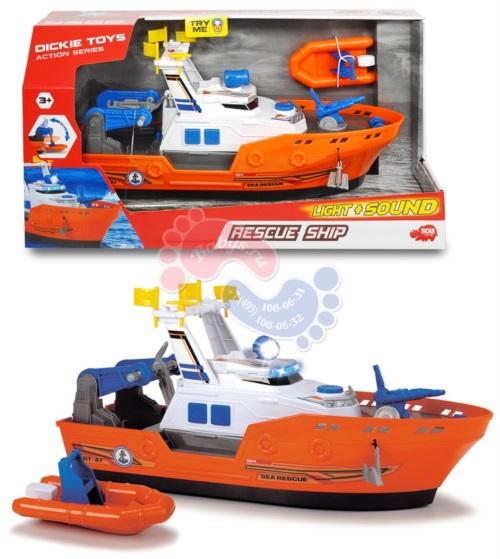 Спасательное судно Dickie Toys со светом звуком и водой 40 см 3308375