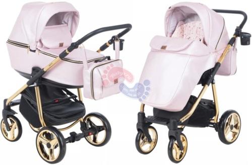 Коляска Adamex Reggio Special Edition 2 в 1 Y222 розовый/ золотая рама