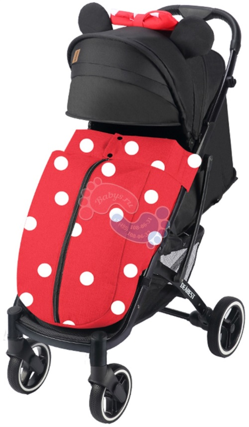 Прогулочная коляска Dearest 818 Plus Black 2020 Premium Set Minnie