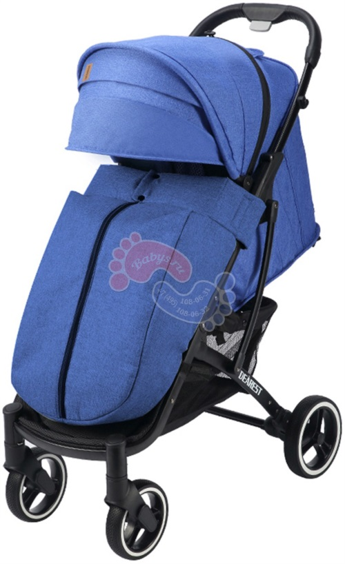 Прогулочная коляска Dearest 818 Plus Black 2020 Premium Set Blue