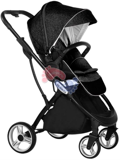 Прогулочная коляска с реверсивным блоком Dearest 1108 Black Black