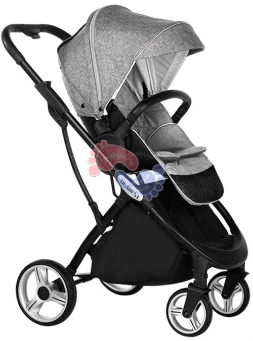 Прогулочная коляска с реверсивным блоком Dearest 1108 Black Grey