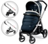 Прогулочная коляска Peg-Perego Book 51 S Pop-Up Luxe Blue на шасси 51 S-White-Black