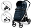 Прогулочная коляска Peg-Perego Book 51 S Pop-Up Luxe Blue Night на шасси 51 S-White-Black
