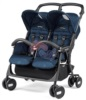 Коляска для двойни Peg Perego Aria Shopper Twin Geo Navy