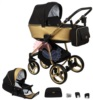 Коляска Adamex Reggio Special Edition 2 в 1 Y828 кожа золотая/графит