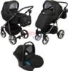 Коляска Adamex Reggio Special Edition Lux 3 в 1 Y69 чёрный/серебряный