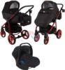 Коляска Adamex Reggio Special Edition 3 в 1 Y300 черный/красный