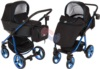 Коляска Adamex Reggio Special Edition 2 в 1 Y301 черный/синий