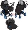 Коляска Adamex Reggio Special Edition 3 в 1 Y301 черный/синий