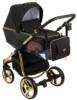 Коляска Adamex Reggio Special Edition 2 в 1 Y85 кожа черная/графит