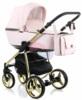 Коляска Adamex Reggio Special Edition 3 в 1 Y813 кожа розовая/розовый