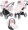 Коляска Adamex Reggio Special Edition 3 в 1 Y850 св.розовая/розовый
