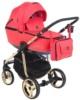 Коляска Adamex Barcelona Special Edition 3 в 1 BR-412 кожа красная/красный