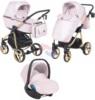Коляска Adamex Reggio Special Edition 3 в 1 Y222 розовый/ золотая рама